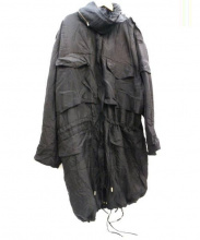 STELLA McCARTNEY(ステラ・マッカートニー)の古着「シルク中綿モッズコート」|ブラック