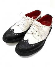 Trickers×JUNYA WATANABE COMME des GARCONS(トリッカーズ×ジュンヤワタナベ・コムデギャルソン)の古着「ウィングチップブーツ」|ホワイト×ブラック