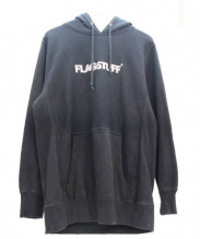 FLAGSTUFF(フラッグスタッフ)の古着「ロゴプリントプルオーバーパーカー」|ブラック