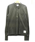 BLACK FLEECE BY Brooks Brothers(ブラック フリース バイ ブルックス ブラザーズ)の古着「ハーフボタンコットンシャツ」|カーキ
