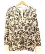 WACKO MARIA(ワコマリア)の古着「ヘンリーネックカットソー」|ホワイト×ブラック