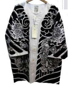 BUENAVISTA(ブエナビスタ)の古着「鯉口シャツ」 ホワイト×ブラック