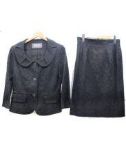 FRANCO FERRARO(フランコフェラーロ)の古着「花柄刺繍セットアップ」|ブラック