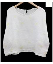 mina perhonen(ミナ ペルホネン)の古着「chouchoプルオーバーブラウス」|スカイブルー