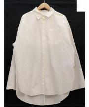 Spick & Span(スピックアンドスパン)の古着「ビックカフスロングスリーブシャツ」|ホワイト