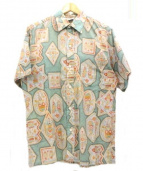 GO BAREFOOT(ゴー ベアフット)の古着「アロハシャツ」 グリーン×グレー