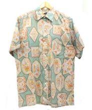 GO BAREFOOT(ゴー ベアフット)の古着「アロハシャツ」|グリーン×グレー