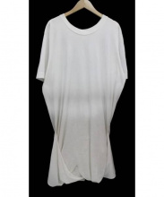 jonnlynx(ジョンリンクス)の古着「デザイン半袖カットソーワンピース」|ホワイト