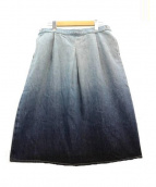 Sally Scott(サリースコット)の古着「台形デニムスカート」|スカイブルー