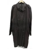SISII(シシ)の古着「リネントレンチコート」 ブラウン