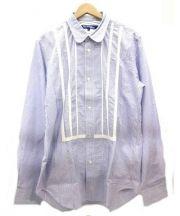 CDG JUNYA WATANABE MAN(コムデギャルソン ジュンヤワタナベ マン)の古着「装飾ストライプシャツ」 ホワイト×ブルー