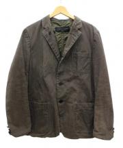 COMME des GARCONS HOMME(コムデギャルソンオム)の古着「製品染めリバーシブルジャケット」|ブラウン×カーキ