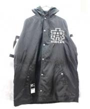 AVIREX(アヴィレックス)の古着「フーデッドジャケット」|ブラック×グレー