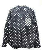 COMME des GARCONS black market(コムデギャルソン ブラックマーケット)の古着「ポケットチェック切替ドットシャツ」|ブラック