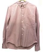 COMME des GARCONS HOMME(コムデギャルソンオム)の古着「長袖シャツ」|レッド×ネイビー
