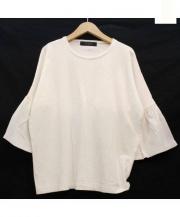 SACRA(サクラ)の古着「ラッフルスリーブカットソー」|ホワイト