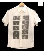 LAD MUSICIAN(ラッドミュージシャン)の古着「フォトプリント半袖シャツ」|ホワイト