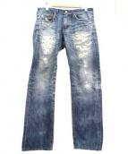 AG(エージー)の古着「ダメージ加工デニムパンツ」|インディゴ