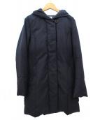 KUMIKYOKU(クミキョク)の古着「フーデッドダウンコート」|ネイビー