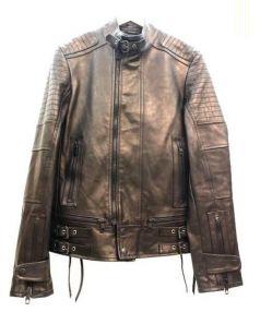 DIESEL BLACK GOLD(ディーゼル ブラック ゴールド)の古着「シングルカウレザーライダースジャケット」 ブラック