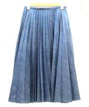 leur logette(ルルロジェッタ)の古着「プリーツデニムスカート」|インディゴ