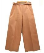 leur logette(ルルロジェッタ)の古着「センタープレスワイドパンツ」|ピンクベージュ