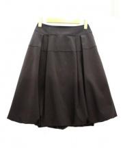 FOXEY NEWYORK(フォクシーニューヨーク)の古着「膝丈ストレッチバルーンスカート」|ブラック