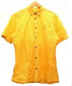BURBERRY BLACK LABEL(バーバリーブラックレーベル)の古着「半袖チェックシャツ」|イエロー×ホワイト