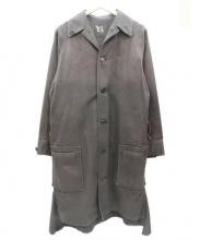 Y's(ワイズ)の古着「ステンカラーコート」|ブラック