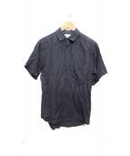 Frank Leder(フランクリーダー)の古着「半袖リネンシャツ」|ネイビー