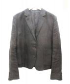 MARGARET HOWELL(マーガレットハウエル)の古着「リネンジャケット」|ブラック