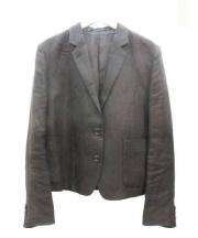 MARGARET HOWELL(マーガレットハウエル)の古着「リネンジャケット」 ブラック