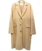 Banner Barrett(バナーバレット)の古着「リネン混チェスターコート」|ベージュ