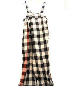 KAPITAL(キャピタル)の古着「リネンサロペット」|ベージュ×ブラック
