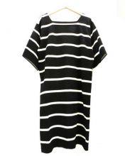 agnes b(アニエスベー)の古着「半袖カットソーワンピース」|ブラック×ホワイト
