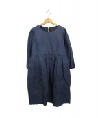Drawer(ドロワー)の古着「リネン混長袖ブラウスワンピース」