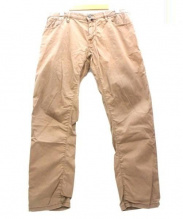 JACOB COHEN(ヤコブコーエン)の古着「加工テーパードパンツ」|ブラウン