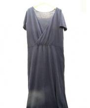 GALERIE VIE(ギャルリーヴィー)の古着「半袖ブラウスワンピース」|ネイビー