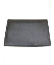 Whitehouse Cox(ホワイトハウスコックス)の古着「レザー2つ折り財布」|ブラック