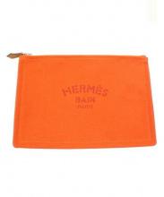 HERMES(エルメス)の古着「キャンバスポーチ」|オレンジ