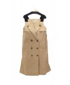 STRAWBERRY FIELDS(ストロベリーフィールズ)の古着「ノースリーブトレンチコート」