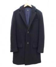A.P.C.(アーペーセー)の古着「メルトンチェスターコート」|ブラック
