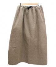 GRAMICCI(グラミチ)の古着「アメリカンベルベティーンロングフレアスカート」|ベージュ