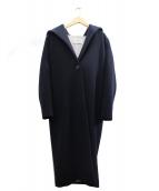 TIARA(ティアラ)の古着「フーデッドコート」 ネイビー