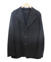 COMME des GARCONS HOMME(コムデギャルソンオム)の古着「ウールギャバジン3Bテーラードジャケット」 ブラック