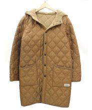 ARMEN(アーメン)の古着「キルティングコート」 ブラウン