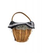 ebagos(エバゴス)の古着「ウールカゴハンドバッグ」|ベージュ