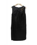 GUCCI(グッチ)の古着「絹麻ノースリーブワンピース」|ブラック