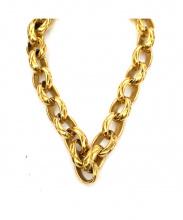 CHANEL(シャネル)の古着「ヴィンテージマトラッセチェーンネックレス」|ゴールド