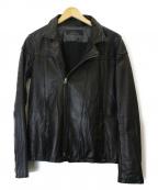 Shama(シャマ)の古着「ダブルレザージャケット」 ブラック